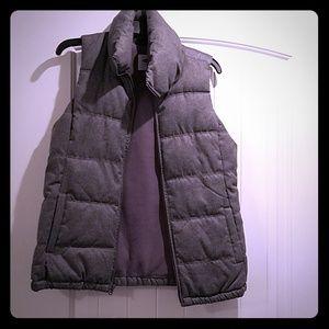 Puffy grey vest